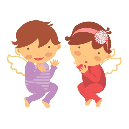 Cute little angels  Vector format Stock Vector - 17710687