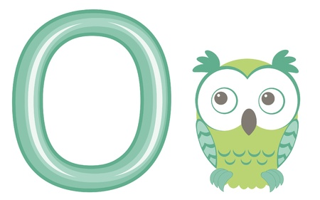 Vector illustration O is for owl  Vector
