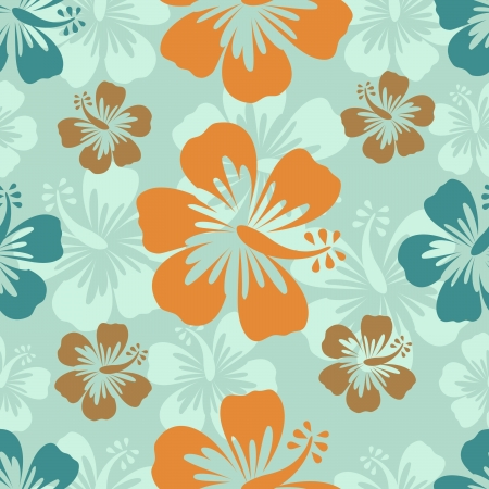 aloha: Colorful hibiscus pattern  Vector format Illustration