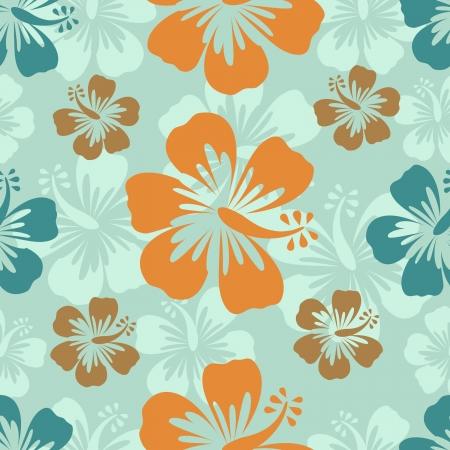 hibisco: Colorido patr�n hibisco formato vectorial Vectores