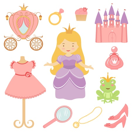Beautiful princess collection  Vector format Vector