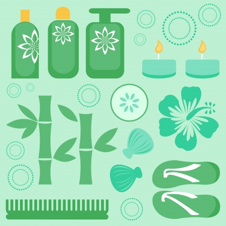 Beautiful spa icons set  Vector format Vector