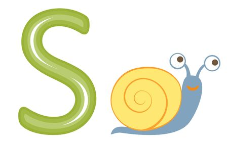 S is for snail  Vector format Stock Vector - 17710720