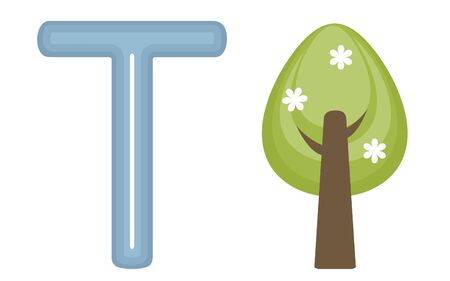 T is for tree  Vector illustration Stock Vector - 17710718