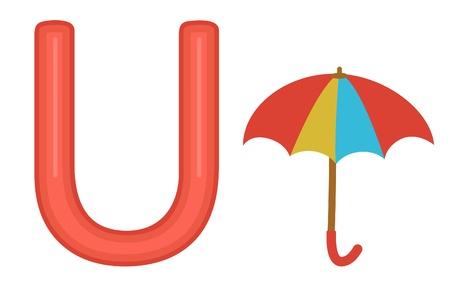 U is for umbrella  Vector format Stock Vector - 17710719