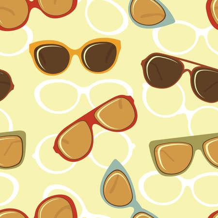 fashion bril: Mode bril naadloze achtergrond