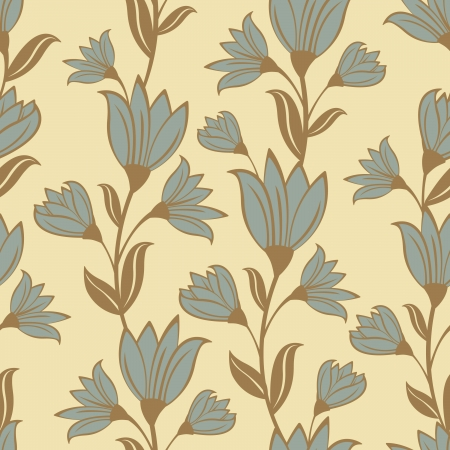 Retro style floral seamless pattern Stock Vector - 18175511