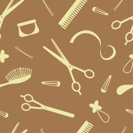 stylist: Hairdressing seamless pattern Illustration