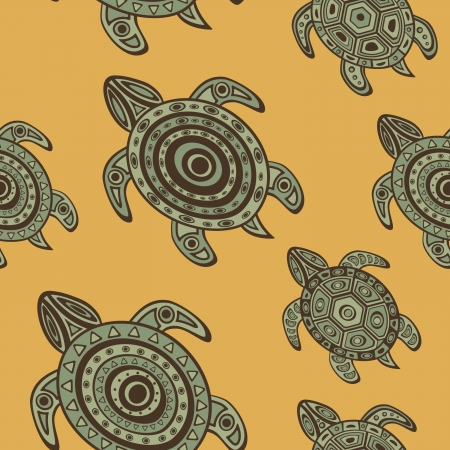 ancient turtles: Colorful seamless pattern with sea turtles Illustration