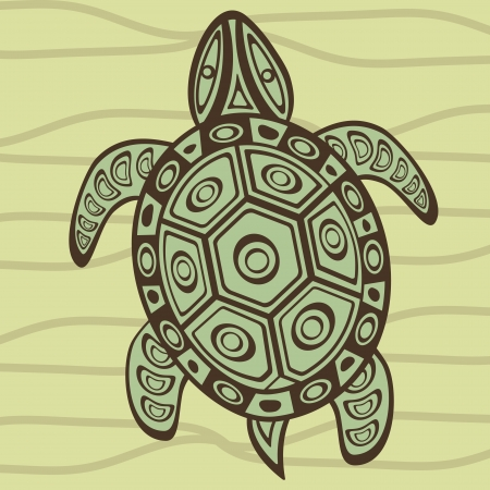 Illustration of a decorative turtle Vector