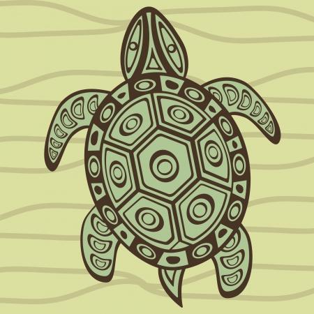 tortoise: Illustration of a decorative turtle Illustration