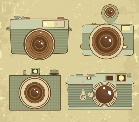 Old style photo cameras collection