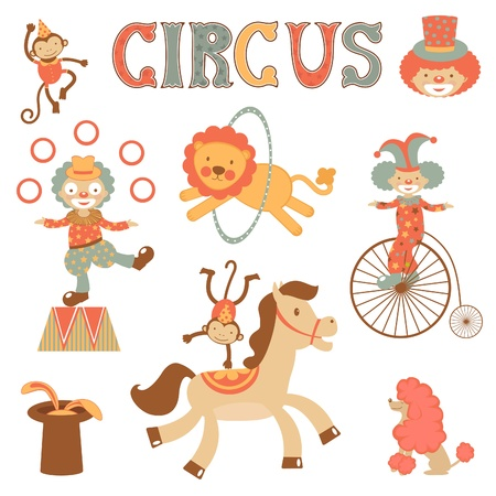 A cute  circus performance related items Vector