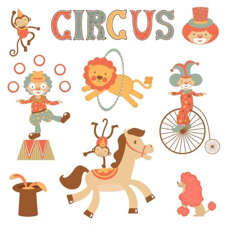 clown cirque: Un mignon éléments liés à la performance de cirque