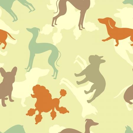 犬歯: 様々 な犬のシームレスなパターン