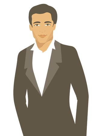 handsome boys: An illustration of elegant handsome man Illustration