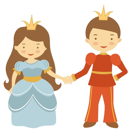 Illustration of prince and princess Vector