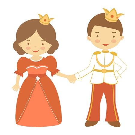 Illustration of beautiful prince and princess Vector