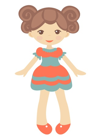rag: An illustration of cute doll