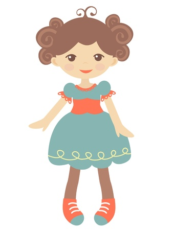 An illustration of cute rag doll Vector