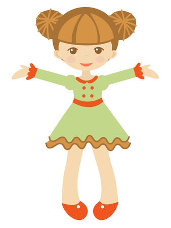 An illustration of a beautiful doll Vector