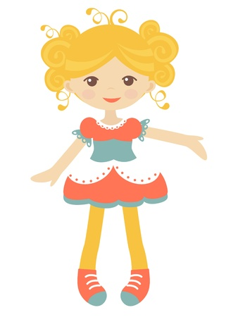 Cute rag doll illustration Vector