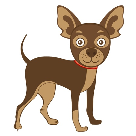 dog standing: Illustration of  cute russian toy terrier Illustration