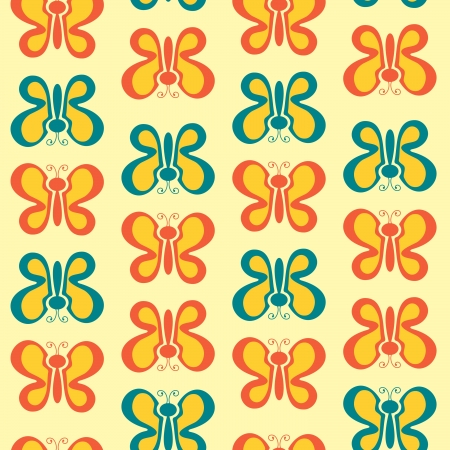 decoraton: Colorful butterflies seamless pattern Illustration