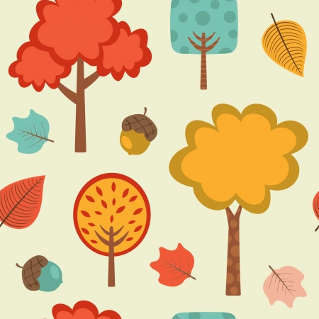 Colorful autumn seamless pattern Vector