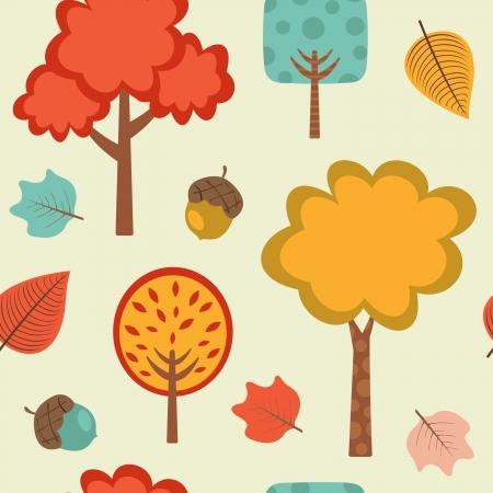 coma: Colorful autumn seamless pattern