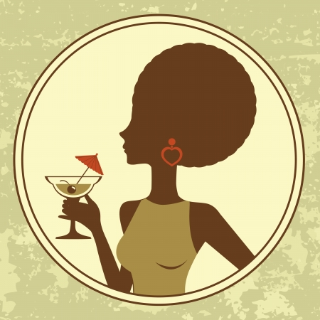 An illustration of beautiful cocktail girl Vector