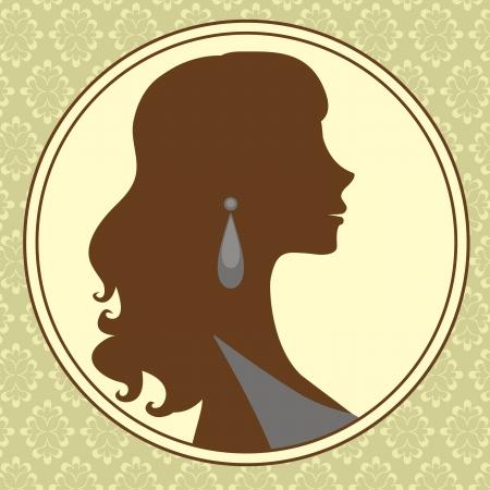 An illustration of beautiful woman portrait Illustration