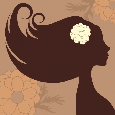 Beautiful woman silhoette Vector