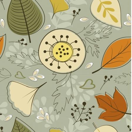 Beautiful seamless autumn background Stock Vector - 22711783