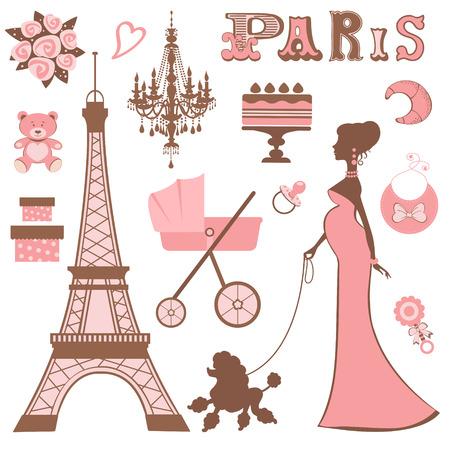 Baby shower Parisienne collection