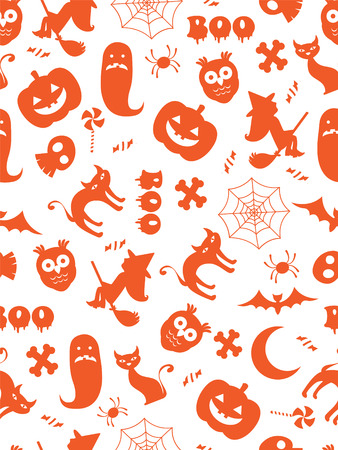 Seamless halloween pattern Illustration