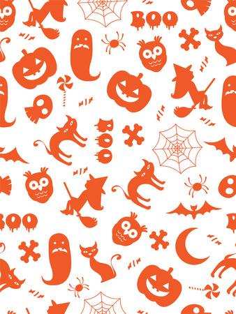 Seamless halloween pattern Vectores
