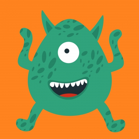 Illustration of yelling monster Vector