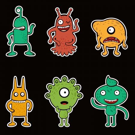 Monsters set Иллюстрация