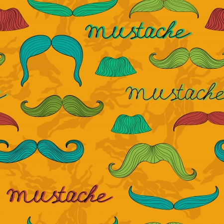 Colorful mustache seamless pattern Stock Vector - 22711921