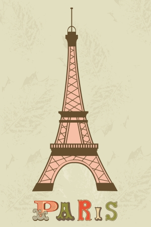 An illustration of Eiffel tower Vector