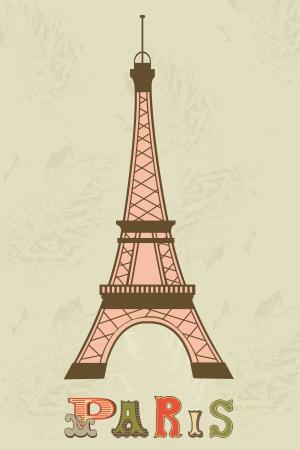 frans: Een illustratie van de Eiffeltoren Stock Illustratie