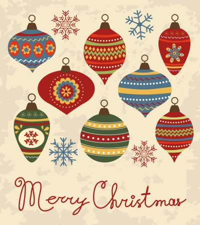 Elegant Christams card with beautiful Christmas decorations