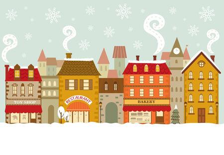크리스마스 도시 풍경