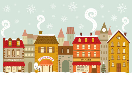 city scape: Christmas city scape