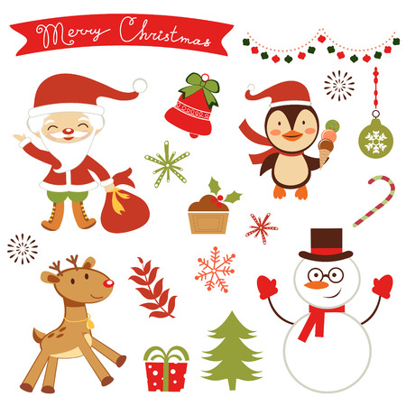 christmas elements: Cute Christmas elements collection