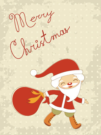 christams: Cute Christams card with Santa Claus