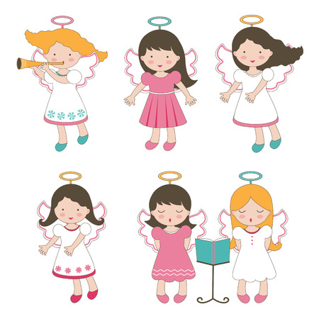 Cute little angels collection Vector