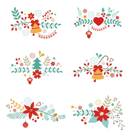 A beautiful collection of christmas banners Vector
