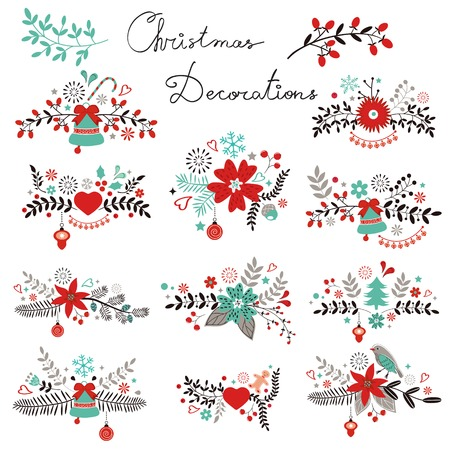 A beautiful Christmas decorations collection Stock Vector - 24539298